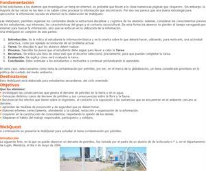 Webquest para estudiar la contaminación por petróleo