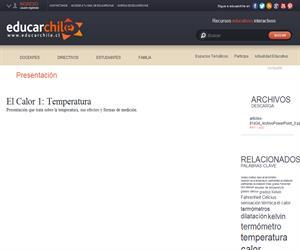 El Calor 1: Temperatura (Educarchile)