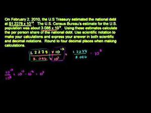 Las notaciones científicas parte 3 (Khan Academy Español)