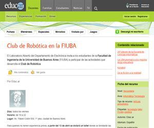 Club de Robótica en la FIUBA