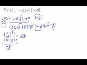 ¿Es combinación lineal?