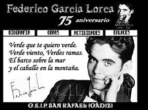 Federico García Lorca. 75 aniversario