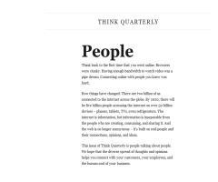 Think Quarterly, de Google. Tercer número: Personas