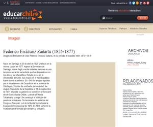 Federico Errázuriz Zañartu (1825-1877) (Educarchile)