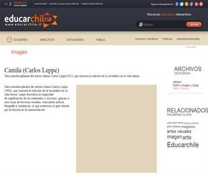 Camila (Carlos Leppe) (Educarchile)