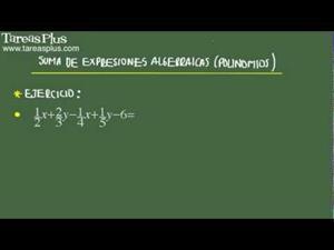 Suma de expresiones algebraicas problema 9 de 15 (Tareas Plus)
