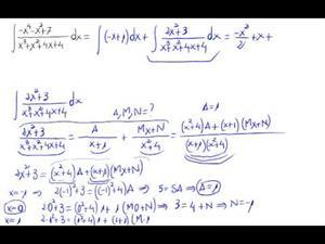 Integral fracciones simples (Raíz compleja simple)