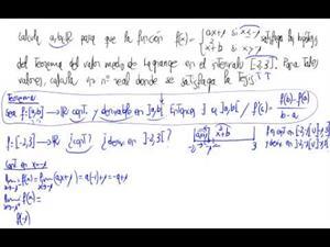 Teorema del valor medio y parámetros