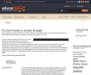 El cónsul Neruda es acusado de plagio (Educarchile)