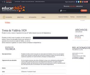 Toma de Valdivia 1820 (Educarchile)