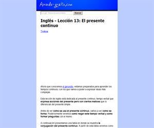 El presente continuo en inglés (aprende-gratis)