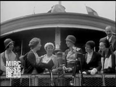 Amelia Earhart vuelve tras su vuelo transatlántico de Nueva Escocia a Irlanda en 1932 (MIRC Digital Video Repository)