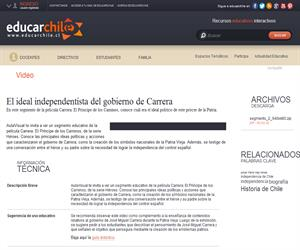 El ideal independentista del gobierno de Carrera (Educarchile)