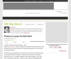 Privacy is a Luxury You Don't Have (Harvard Business Review) #globernance