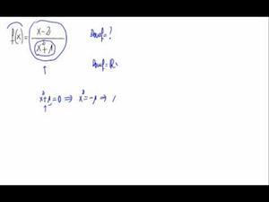Dominio de una función (cociente de polinomio)