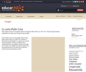 La carta (Pedro Lira) (Educarchile)