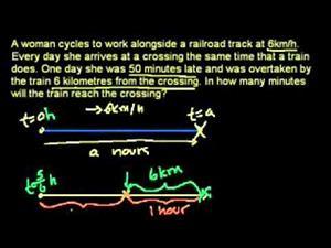 Bicicleta pasando: ejercicio de álgebra (Khan Academy Español)