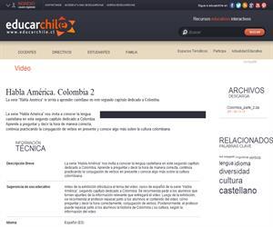 Habla América. Colombia 2 (Educarchile)