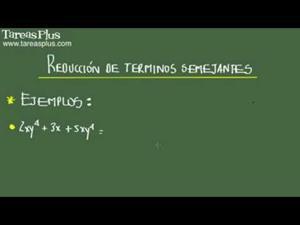 Reducción de términos semejantes problema 13 de 15 (Tareas Plus)