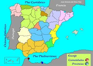 Comunidades Autónomas y provincias de España