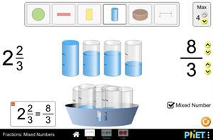 Fracciones: números mixtos