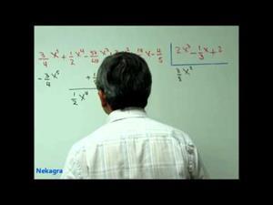 División de polinomios con coeficientes fraccionarios
