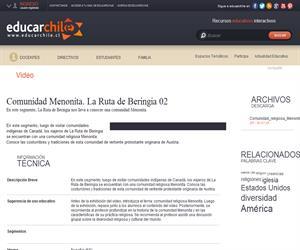 Comunidad Menonita. La Ruta de Beringia 02 (Educarchile)