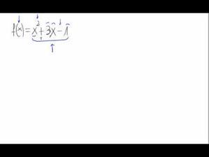 Dominio de una función (polinomio)