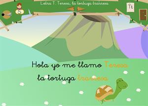 """Letra """"t"""". Teresa, la tortuga traviesa. Proyecto Medusa"""