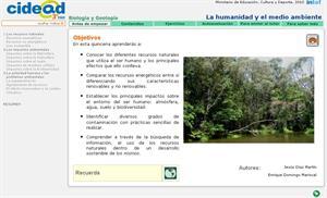 La humanidad y el medio ambiente (cidead)