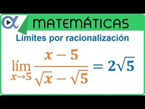 Límite indeterminado 0/0 por racionalización