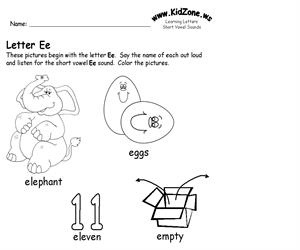 Activity sheet ? Ee sound (Educarchile)
