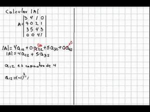 Determinante de una matriz de 3 x 3 y 4 x 4. Método de los Cofactores