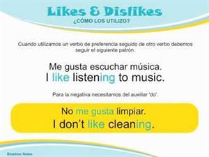 Gramática Inglés: Likes & Dislikes (blueblocnotes.com)