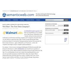 Wal-Mart: The Next Data Company? (Semantic Web)