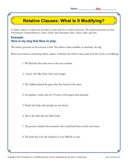 Relative Clauses: What Is It Modifying?