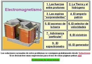 Problemas de Electromagnetismo (nivel superior)