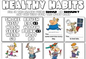 Healthy habits (should or shouldn't)