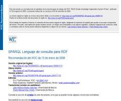 SPARQL Lenguaje de consulta para RDF