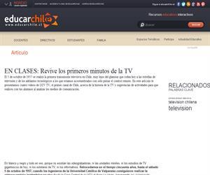 EN CLASES: Revive los primeros minutos de la TV (Educarchile)