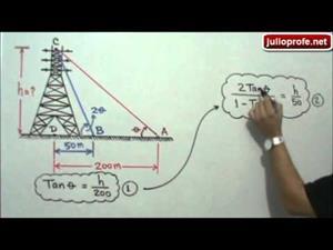 Problema de Trigonometría con Triángulos Rectángulos (JulioProfe)