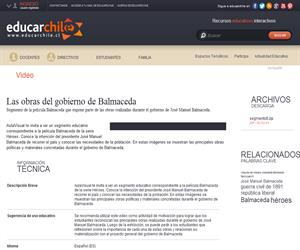 Las obras del gobierno de Balmaceda (Educarchile)
