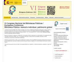 VI Congreso Nacional de Bibliotecas Públicas / Europeana Conference Biblioteca Pública: memoria individual, patrimonio global