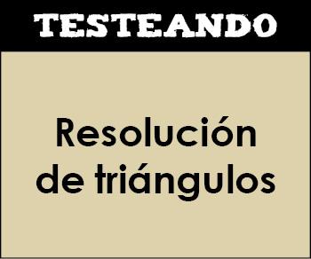 Resolución de triángulos. 4º ESO - Matemáticas (Testeando)