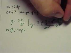 Intensidad del campo gravitatorio. Cibermatex. (Ejemplo PAU)