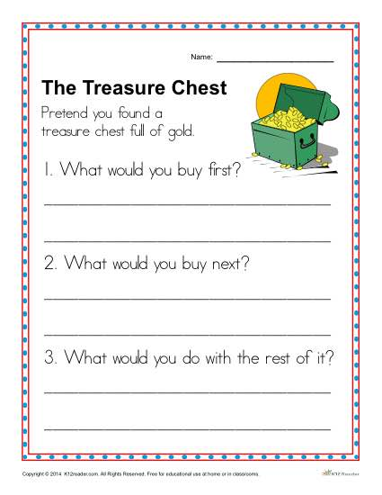 The Treasure Chest Writing Prompt