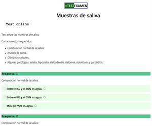 Muestras de saliva (test)