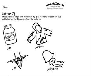 Activity sheet ? Jj sound (Educarchile)