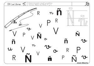 2ª Ficha de Lectoescritura de la letra Ñ