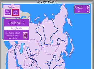 Rios y lagos de Asia - Mapa interactivo